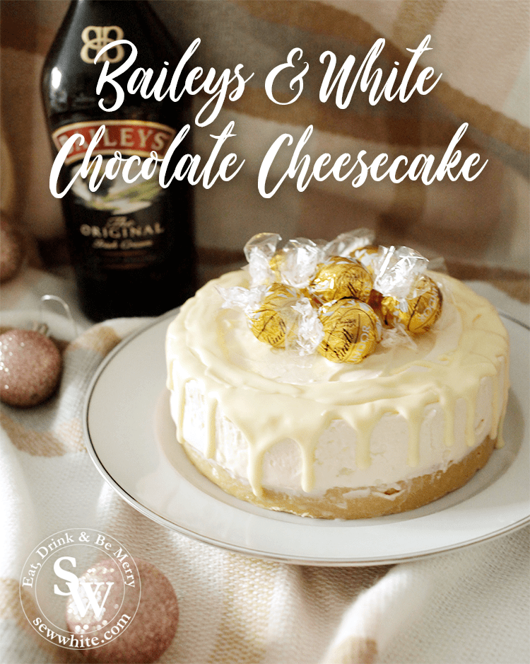 Baileys and White Chocolate Cheesecake